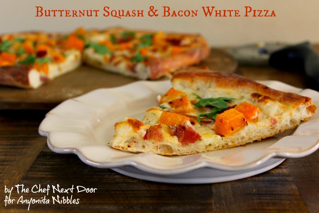 Butternut Squash & Bacon White Pizza | The Chef Next Door