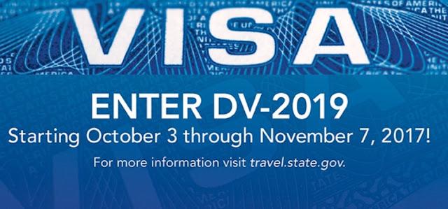 Loterie pour Visa d'Immigration DV2019 aux Etats-Unis