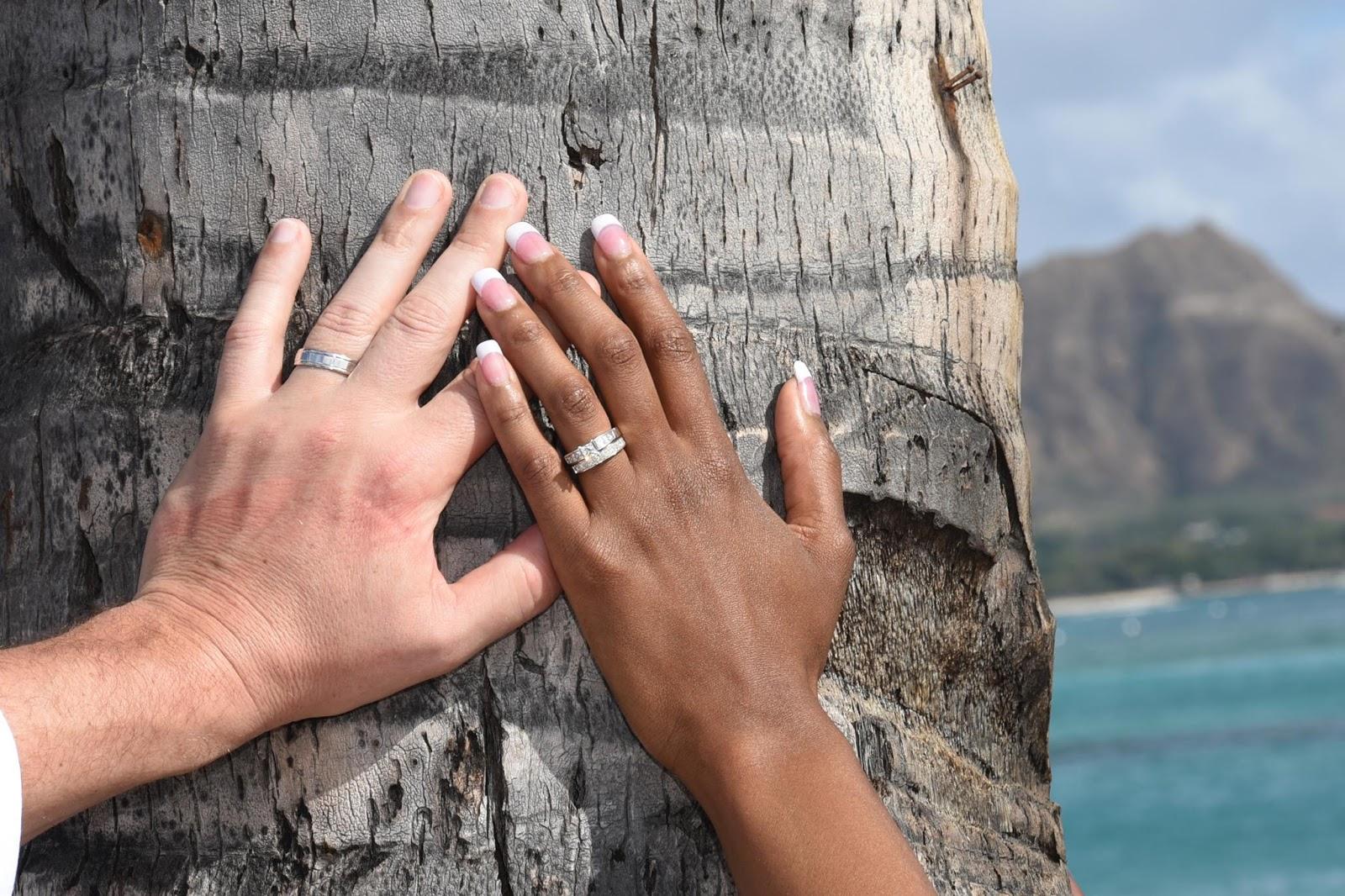 Newlyweds in Hawaii