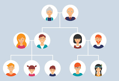 árbol genealógico para apellidos familiares