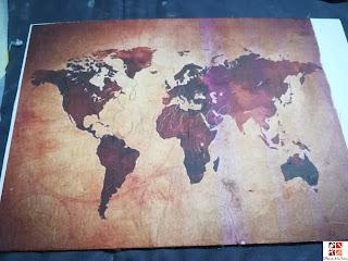 como hacer un cuadro mapamundi