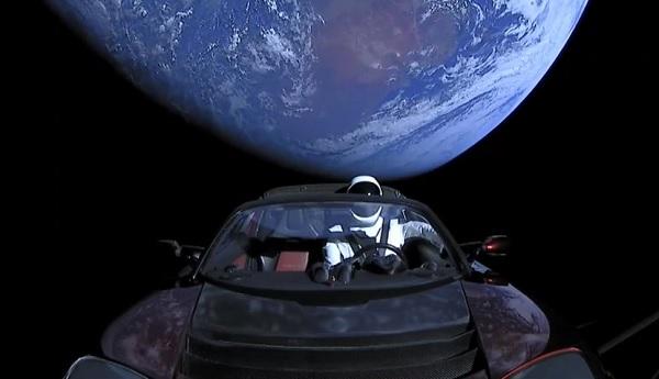 Tesla Roadster Marte
