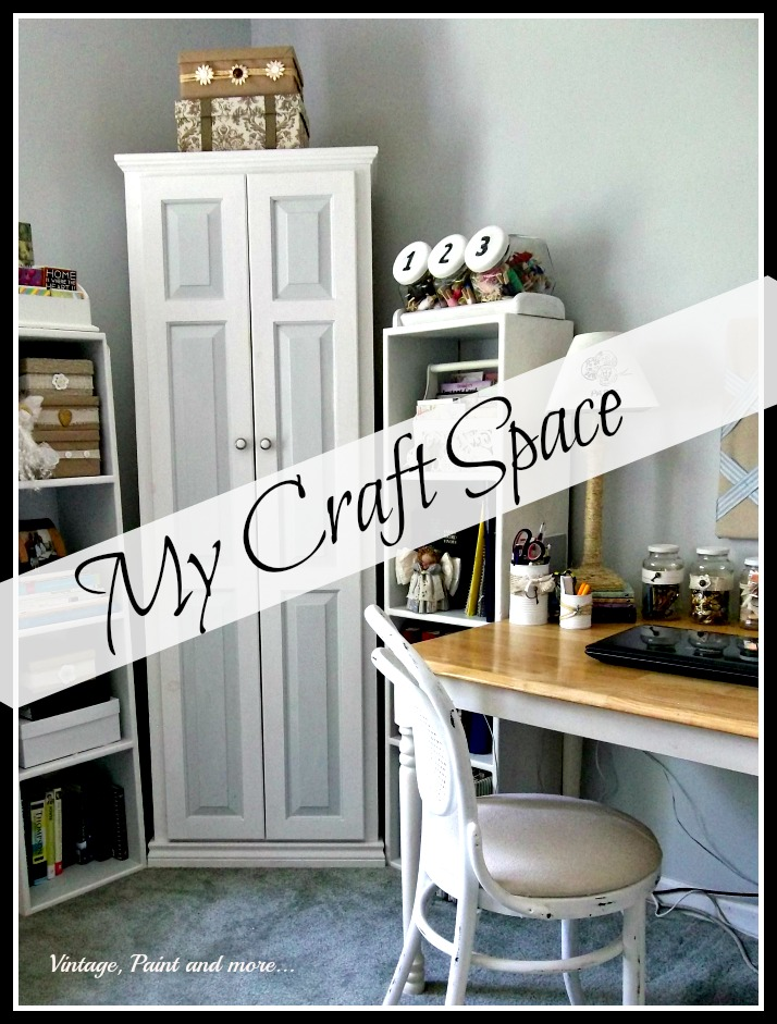 Vintage Paint and more... craft space furnished with thrifted and upcycled items