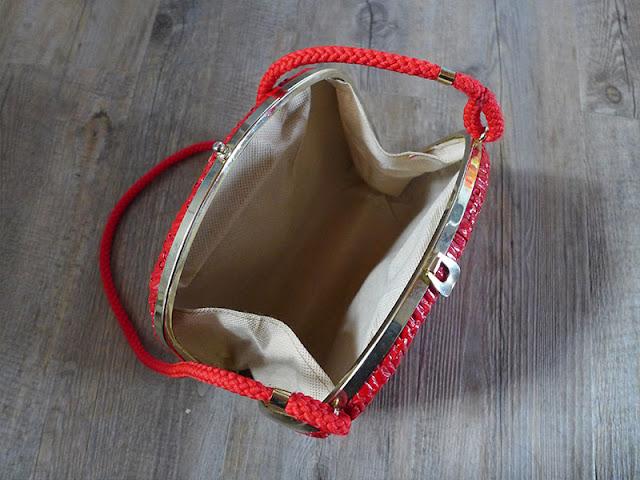 intérieur sac vintage