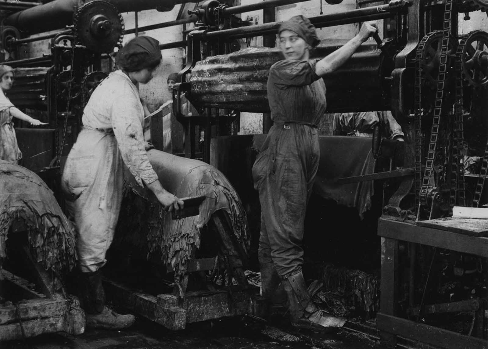 Tannery workers.