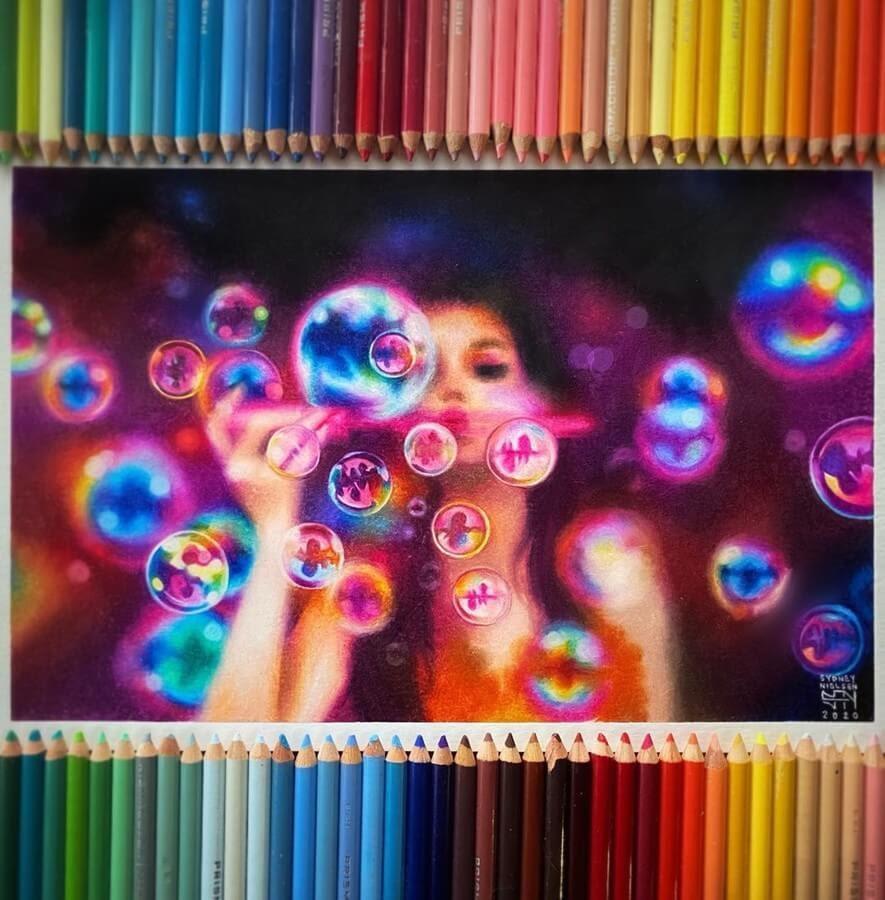 12-Blowing-Bubbles-Sydney-Nielsen-Pencil-Drawings-www-designstack-co