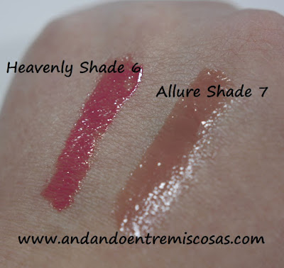 Swatches glosses Vivo y Accessorize