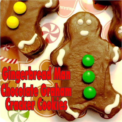 Don't take boring Christmas cookies to your Cookie Exchange party! Take these super cute Gingerbread man chocolate graham cracker cookies instead. He's so cute he'll be wowing the party guests and running away with the show.