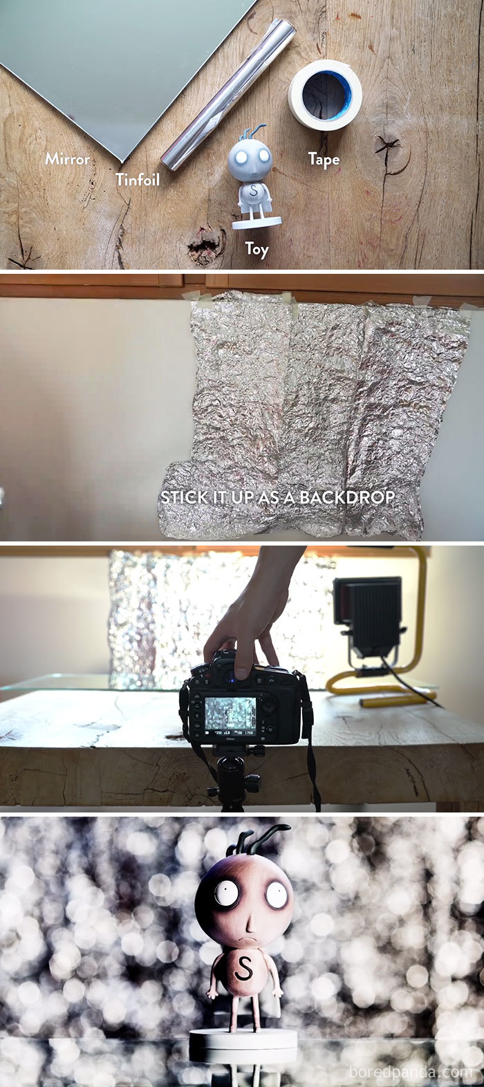 #1 Use Tinfoil To Create A Wall Of Bokeh - 10 Genius Camera Hacks That Will Greatly Improve Your Photography Skills In Less Than 3 Minutes