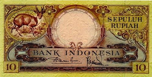 10 rupiah jadul uang kertas