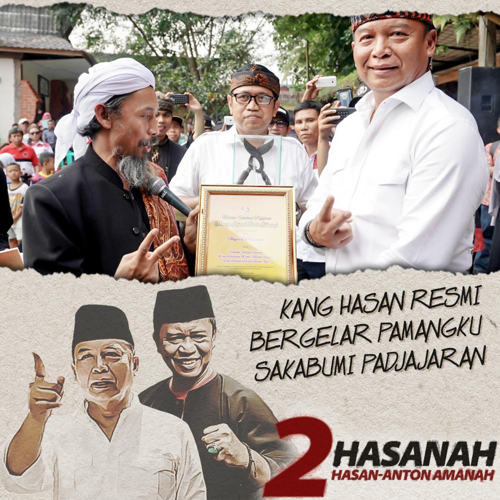 Kang Hasan Resmi Bergelar Pamangku Sukabumi Padjajaran