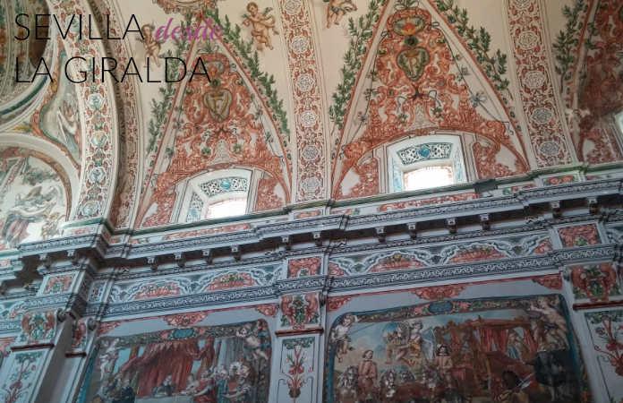 Interior-iglesia-hospital-de-los-venerables-Sevilla-pinturas-murales-Valdés-Leal