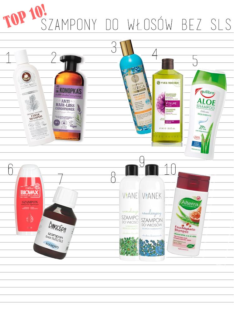 TOP 10 najlepsze szampony do włosów bez SLS i SLES  - Czytaj więcej »