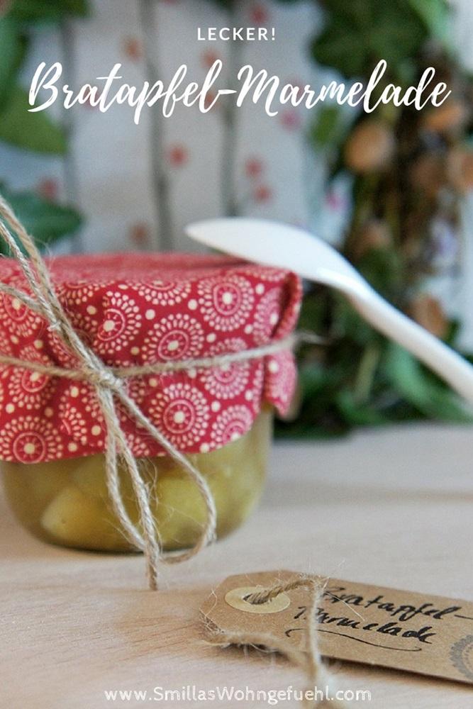 Rezept für Bratapfel-Marmelade mit Rosinen und Marzipan
