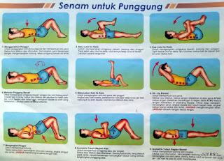 cara melakukan latihan senam untuk pergeseran tulang belakang