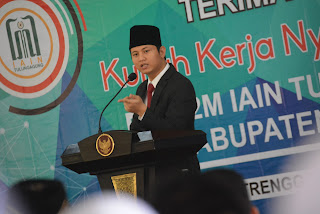 Wabup Arifin Menerima Peserta KKN Mahasiswa IAIN Tulungagung di Trenggalek