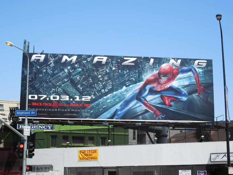 Amazing Spiderman movie billboard