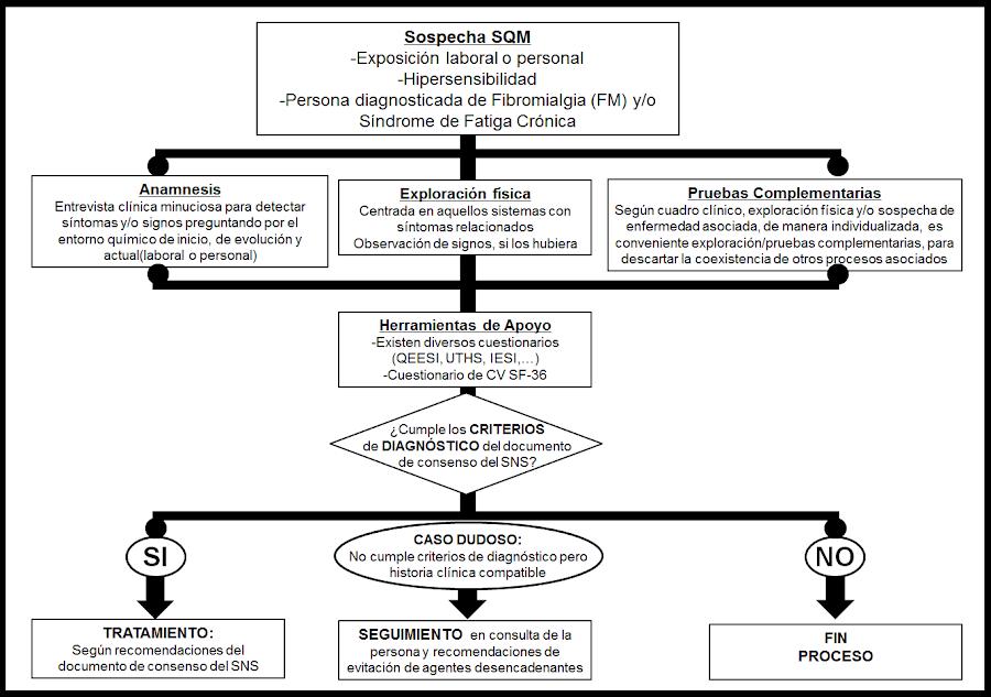 Algoritmo diagnóstico-terapéutico del Documento de Consenso de la Sensibilidad Química Múltiple Fuente: Jesús Jurado-Palomo