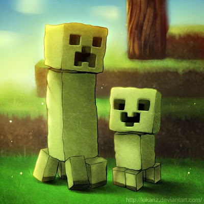 creeper minecraft caricatura
