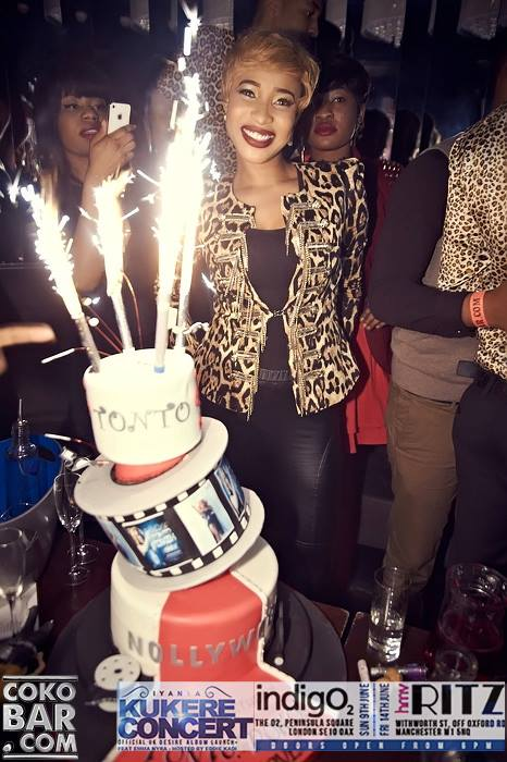 tonto dikeh birthday in london