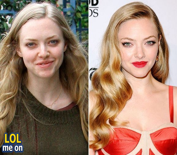 "funny celebrities picture shows Amanda Seyfried from ""LOL me on"""