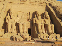 "Facade, the ""Great Temple"" of Rameses II at Abu Simbel, Egypt"