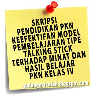 contoh skripsi pkn