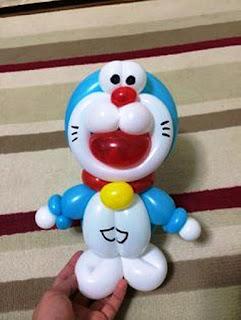 Contoh Gambar Balon Karakter Doraemon