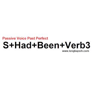 Passive Voice Past Perfect