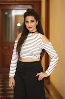 Manjusha in sleevelss crop top and black skirt at Darshakudu pre release ~  Exclusive Celebrities Galleries 089.JPG