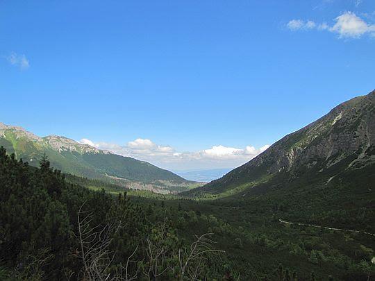 Widok w kierunku ujścia Doliny Zielonej Kiezmarskiej.