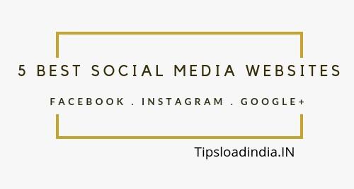 Social media, social media websites