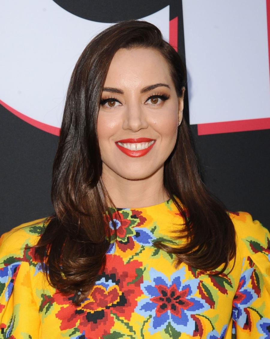 American Model Aubrey Plaza at Childs Play Premiere in Hollywood