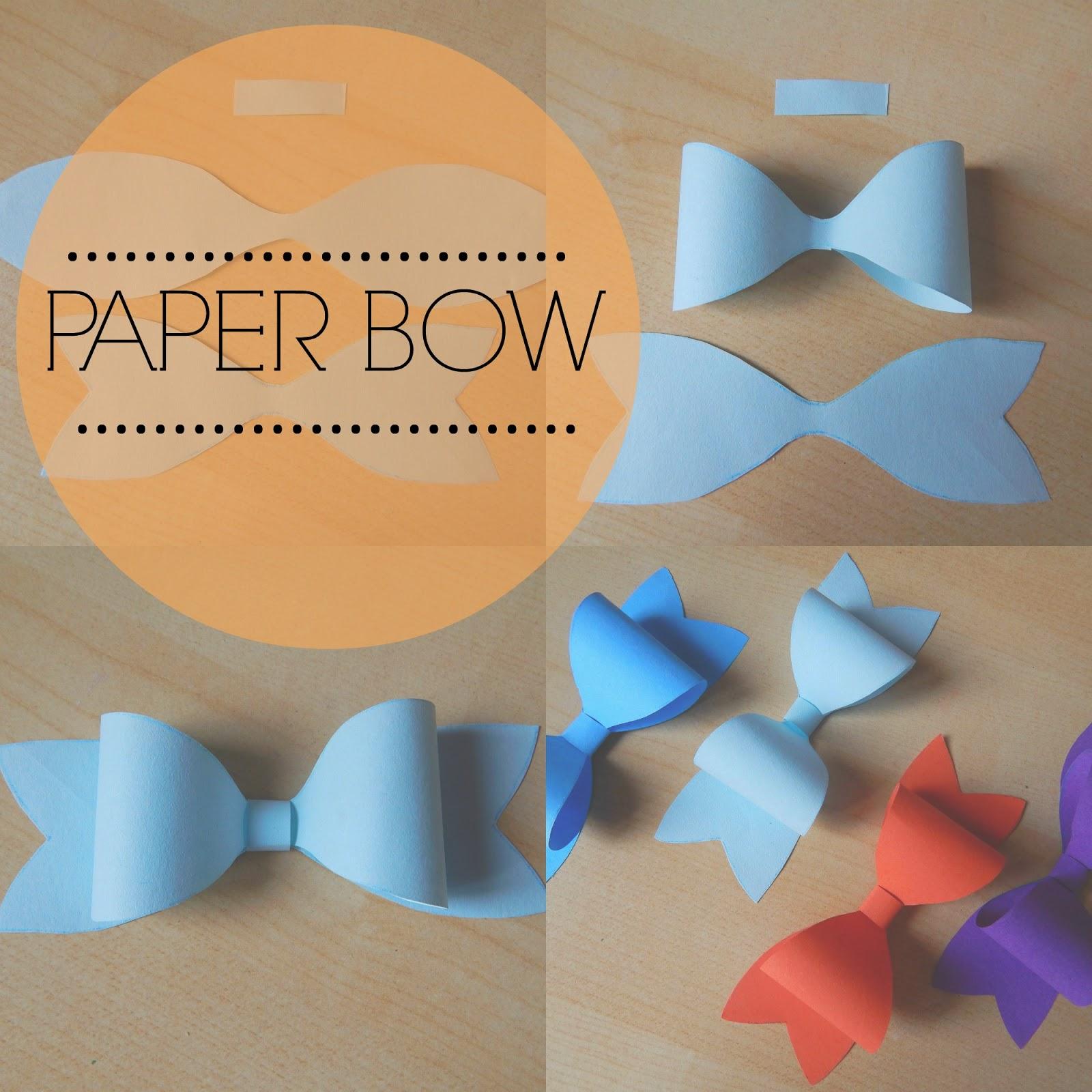 Kate and Kate   DIY  Paper bow   Papírová mašle a0cf13e9de