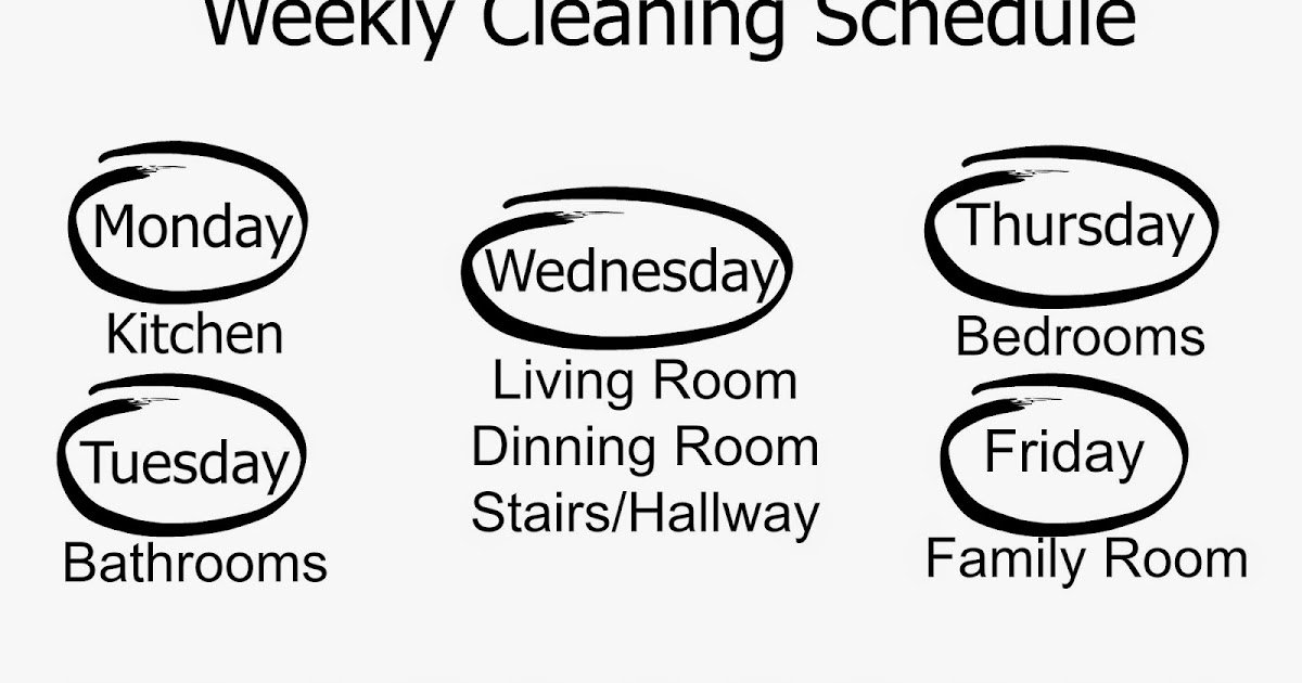 Happy At Home: Weekly Cleaning Schedule