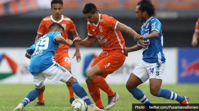 Persib Bandung Kalah 1-2 dari Borneo FC