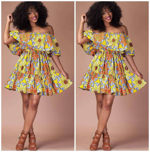Trendy Ankara Maternity Dress For Use During And After T