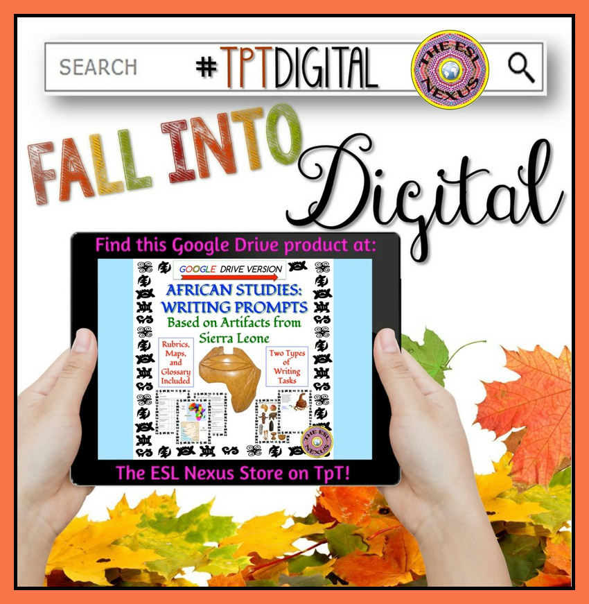 Find digital products like this photo-based Africa writing prompts resource with the hashtag #TpTDigital on 9/19/16