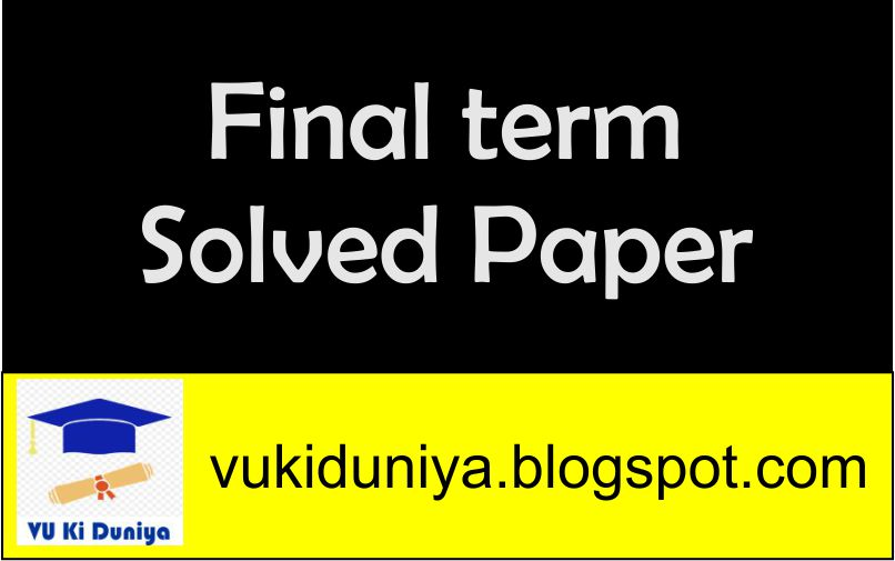 english 101 final term solved papers Popular posts eco401 final term solved past papers with reference by moaaz eng final term past papers.