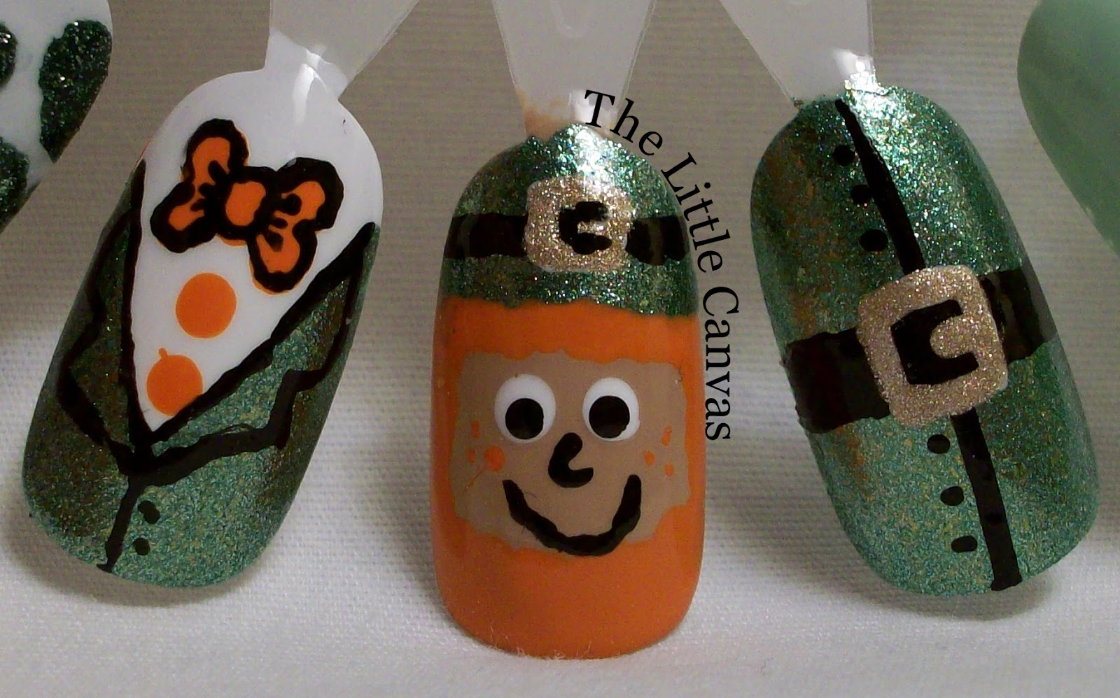 St. Patrick\'s Day Nail Art Wheel - The Little Canvas