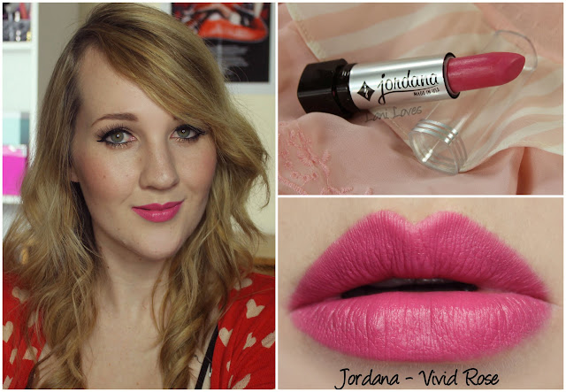 Jordana Vivid Rose lipstick swatch