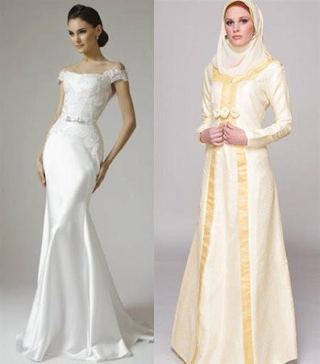 gaun pengantin simple elegan