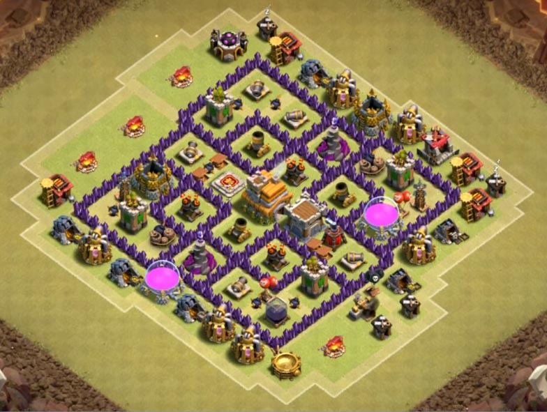 good town hall 7 map anti 3 stars