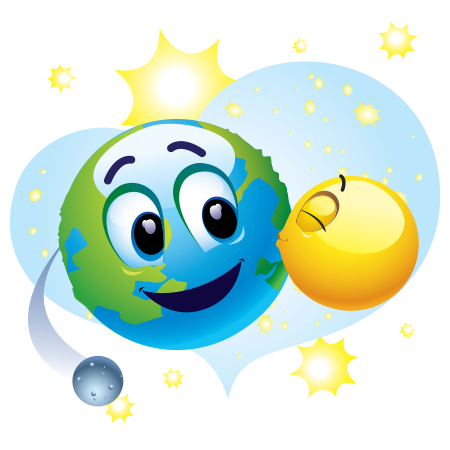 Earth-friendly emoticon