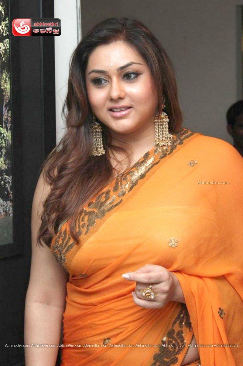 Namitha in Orange Saree