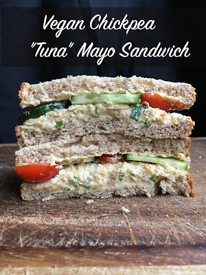 "Vegan Chickpea ""Tuna"" Mayo Sandwich"