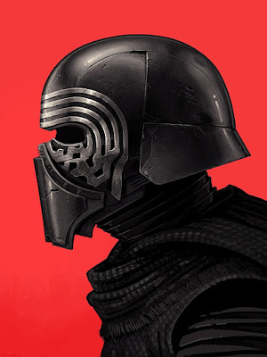Star Wars The Force Awakens Kylo Ren Portrait Print by Mike Mitchell x Mondo