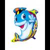 Balon Foil Karakter Ikan Lumba Topi