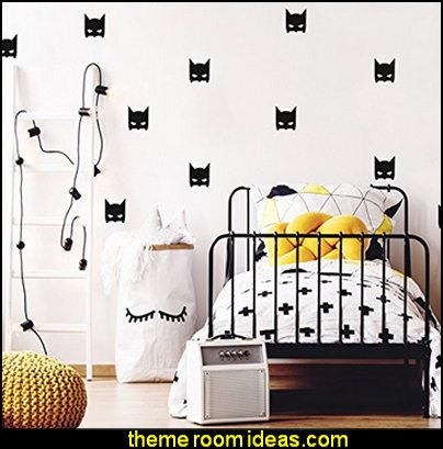 Batman decals  Superheroes bedroom ideas - batman - spiderman - superman decor - Captain America - comic book bedding - batmobile bed - Wonder Woman Girls superhero - marvel wall art Avengers - superman bedding - primary color bedroom ideas - spiderman room decor - decorating with comics - Batman furniture - Wonder Woman furniture - Avengers bedroom furniture -  Justice League