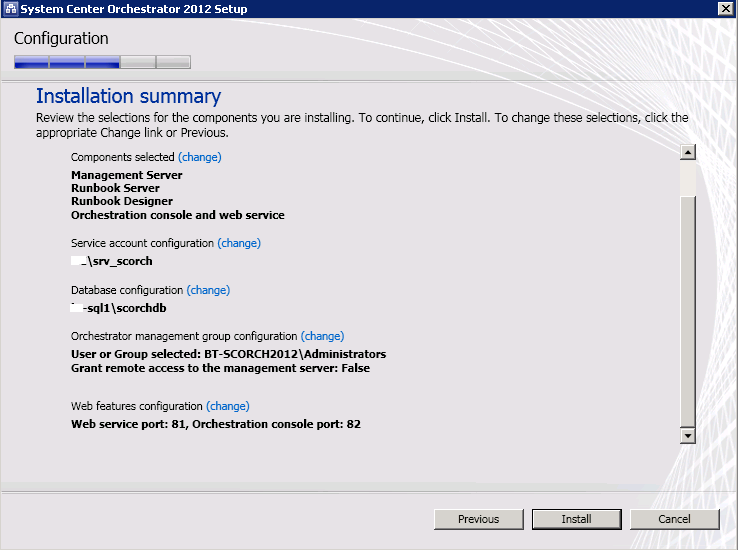 Kevin Greene IT Blog: Installing System Center Orchestrator 2012